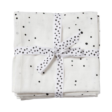 Swaddle, 2-pack, dreamy dots white, Done by Deer