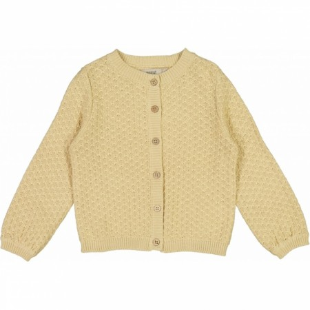 Strikket cardigan magnelia, soft beige, Wheat